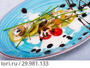 Купить «Gratin potatoes with mushrooms», фото № 29981133, снято 24 августа 2019 г. (c) Яков Филимонов / Фотобанк Лори