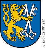 Купить «Герб города Легница. Польша», иллюстрация № 29981237 (c) Владимир Макеев / Фотобанк Лори