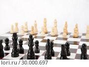 Купить «Chessboard set up to play», фото № 30000697, снято 28 февраля 2012 г. (c) Wavebreak Media / Фотобанк Лори