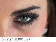 Купить «Woman with long eyelashes», фото № 30001597, снято 27 августа 2012 г. (c) Wavebreak Media / Фотобанк Лори