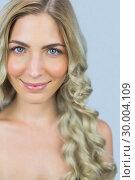 Купить «Beautiful natural blonde posing», фото № 30004109, снято 16 апреля 2013 г. (c) Wavebreak Media / Фотобанк Лори