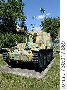 """Германская самоходная артиллерийская установка """"Мардер III"""" (Marder III Ausf.M) на Поклонной горе в Москве (2018 год). Редакционное фото, фотограф Free Wind / Фотобанк Лори"""
