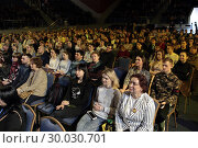Купить «День православной молодежи отметят в Одинцово. Зрительный зал», фото № 30030701, снято 19 февраля 2019 г. (c) Дмитрий Неумоин / Фотобанк Лори