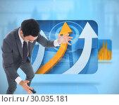 Купить «Composite image of businessman catching», фото № 30035181, снято 2 ноября 2013 г. (c) Wavebreak Media / Фотобанк Лори