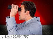 Купить «Composite image of visionary businessman looking to the future», фото № 30064797, снято 11 января 2014 г. (c) Wavebreak Media / Фотобанк Лори