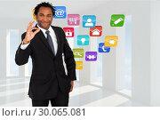 Купить «Composite image of businessman showing okay sign », фото № 30065081, снято 11 января 2014 г. (c) Wavebreak Media / Фотобанк Лори