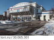 Купить «Одинцово, Волейбольный Центр», эксклюзивное фото № 30065301, снято 19 февраля 2019 г. (c) Дмитрий Неумоин / Фотобанк Лори