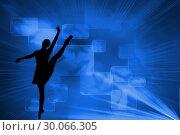 Купить «Composite image of futuristic blue squares», фото № 30066305, снято 11 января 2014 г. (c) Wavebreak Media / Фотобанк Лори
