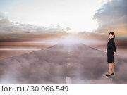 Купить «Composite image of serious businesswoman», фото № 30066549, снято 15 января 2014 г. (c) Wavebreak Media / Фотобанк Лори