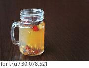 Fruit tea. Tea with forest berries. Стоковое фото, фотограф Николай Куницкий / Фотобанк Лори