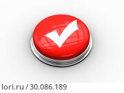 Купить «Composite image of tick symbol graphic on button», фото № 30086189, снято 16 июня 2014 г. (c) Wavebreak Media / Фотобанк Лори