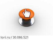 Купить «Composite image of hand icon graphic on button», фото № 30086521, снято 16 июня 2014 г. (c) Wavebreak Media / Фотобанк Лори