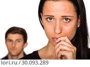 Купить «Couple not talking after argument», фото № 30093289, снято 2 июля 2014 г. (c) Wavebreak Media / Фотобанк Лори