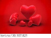Купить «Composite image of love hearts», фото № 30107821, снято 20 января 2015 г. (c) Wavebreak Media / Фотобанк Лори