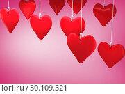 Купить «Composite image of love hearts», фото № 30109321, снято 21 января 2015 г. (c) Wavebreak Media / Фотобанк Лори