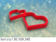 Купить «Composite image of linking hearts», фото № 30109345, снято 21 января 2015 г. (c) Wavebreak Media / Фотобанк Лори