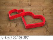 Купить «Composite image of linking hearts», фото № 30109397, снято 21 января 2015 г. (c) Wavebreak Media / Фотобанк Лори