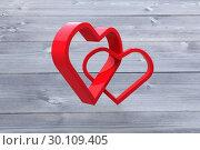 Купить «Composite image of linking hearts», фото № 30109405, снято 21 января 2015 г. (c) Wavebreak Media / Фотобанк Лори