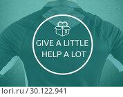 """Купить «Sport man """"give a little help a lot""""», фото № 30122941, снято 23 ноября 2016 г. (c) Wavebreak Media / Фотобанк Лори"""