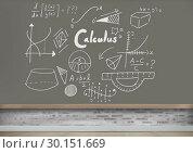 Math calculus equations on blackboard. Стоковое фото, агентство Wavebreak Media / Фотобанк Лори