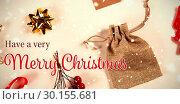 Composite image of christmas card. Стоковое фото, агентство Wavebreak Media / Фотобанк Лори
