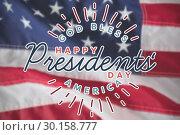 Купить «Composite image of god bless america. happy presidents day. vector typography», фото № 30158777, снято 4 января 2019 г. (c) Wavebreak Media / Фотобанк Лори