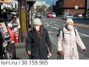 Купить «Kyoto, Japan, Two older Japanese women », фото № 30159965, снято 25 декабря 2017 г. (c) Caro Photoagency / Фотобанк Лори