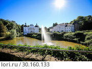 Купить «Borbeck Castle Park, Essen, Ruhr Area, Germany», фото № 30160133, снято 24 августа 2016 г. (c) Caro Photoagency / Фотобанк Лори