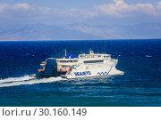 Купить «Ferries, Seajets, Rafina, Attica, Greece, Europe», фото № 30160149, снято 17 сентября 2018 г. (c) Caro Photoagency / Фотобанк Лори