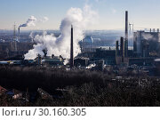 Prosper coking plant, industrial landscape in the Ruhr area, Bottrop, Germany, Europe (2019 год). Стоковое фото, агентство Caro Photoagency / Фотобанк Лори