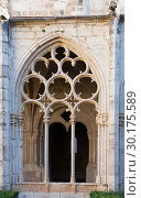 Купить «Gothic ogival windows in cloister of Monastery of Santa Maria de Santes Creus», фото № 30175589, снято 27 января 2019 г. (c) Яков Филимонов / Фотобанк Лори