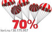 Купить «Скидка в размере семидесяти процентов», видеоролик № 30175957, снято 22 февраля 2019 г. (c) WalDeMarus / Фотобанк Лори