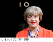 Madame Tussaud's unveils the brand new wax figure of British Prime... (2017 год). Редакционное фото, фотограф WENN.com / age Fotostock / Фотобанк Лори