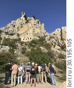 The Saint Hilarion Castle lies on the Kyrenia mountain range, in Cyprus. This location provided the castle with command of the pass road from Kyrenia to... Стоковое фото, фотограф Andre Maslennikov / age Fotostock / Фотобанк Лори