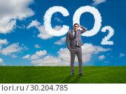 Купить «Ecological concept of greenhouse gas emissions», фото № 30204785, снято 25 мая 2020 г. (c) Elnur / Фотобанк Лори