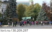 Купить «Inside of Moscow Kremlin, Russia (day)», видеоролик № 30209297, снято 26 февраля 2019 г. (c) Владимир Журавлев / Фотобанк Лори