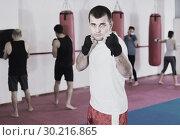 Купить «Champion is practicing different kiks», фото № 30216865, снято 5 мая 2017 г. (c) Яков Филимонов / Фотобанк Лори