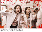 Girls frightening with medical instruments. Стоковое фото, фотограф Яков Филимонов / Фотобанк Лори