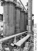 Купить «Old abandoned Metallurgical Plant. Blast furnace plant», фото № 30217101, снято 19 июля 2015 г. (c) Евгений Ткачёв / Фотобанк Лори