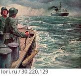 Купить «Nazi Soldiers on Boat.», фото № 30220129, снято 28 января 2020 г. (c) age Fotostock / Фотобанк Лори
