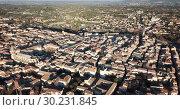 Купить «Aerial view of the french city of Carpentras. Provence, France», видеоролик № 30231845, снято 6 января 2019 г. (c) Яков Филимонов / Фотобанк Лори
