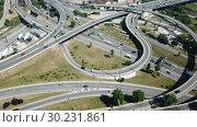 Купить «Image of car interchange of Barcelona in the Spain.», видеоролик № 30231861, снято 23 июня 2018 г. (c) Яков Филимонов / Фотобанк Лори