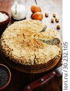 Купить «Творожный пирог с маком», фото № 30232105, снято 22 ноября 2018 г. (c) Надежда Мишкова / Фотобанк Лори