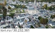 Купить «Picturesque autumn landscape of Indre-et-Loire department with medieval fortified castle of Chateau de Langeais, France», видеоролик № 30232381, снято 8 октября 2018 г. (c) Яков Филимонов / Фотобанк Лори