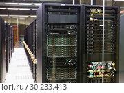Купить «Server room in data center», фото № 30233413, снято 15 января 2018 г. (c) Яков Филимонов / Фотобанк Лори