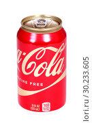 Купить «Coca-Cola Caffeine Free», фото № 30233605, снято 1 марта 2019 г. (c) Art Konovalov / Фотобанк Лори