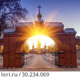 Купить «The Holy Resurrection Monastery is a functioning monastery of the Russian Orthodox Church.», фото № 30234069, снято 10 февраля 2016 г. (c) Акиньшин Владимир / Фотобанк Лори