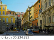 Vibrant streets of Genoa (2017 год). Редакционное фото, фотограф Яков Филимонов / Фотобанк Лори