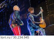 Купить «Выступление The Prodigy на фестивале Tuborg Greenfest», эксклюзивное фото № 30234945, снято 29 июня 2014 г. (c) Ольга Визави / Фотобанк Лори