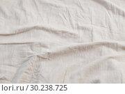 Купить «background linen bedclothes», фото № 30238725, снято 25 февраля 2019 г. (c) Майя Крученкова / Фотобанк Лори